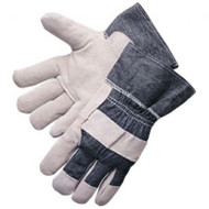 Denim Cuff Leather Palm Gloves. Shop Now!