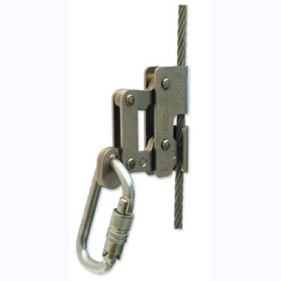 Tractel LT38 3/8 Inch Wire Rope Grab w/ Autolocking Carabiner