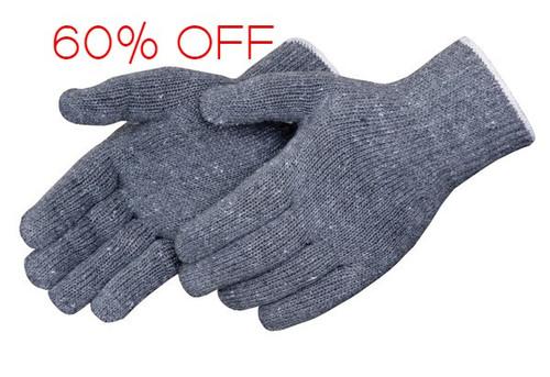 Grey Medium Weight String Knit Gloves. Shop Now!