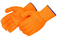 String Knit Gloves Clear Honeycomb Orange. Shop Now!