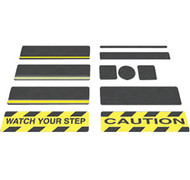"INCOM SG3134BS 6"" x 30"" Black Gator Grip® Anti-Slip Cleats"
