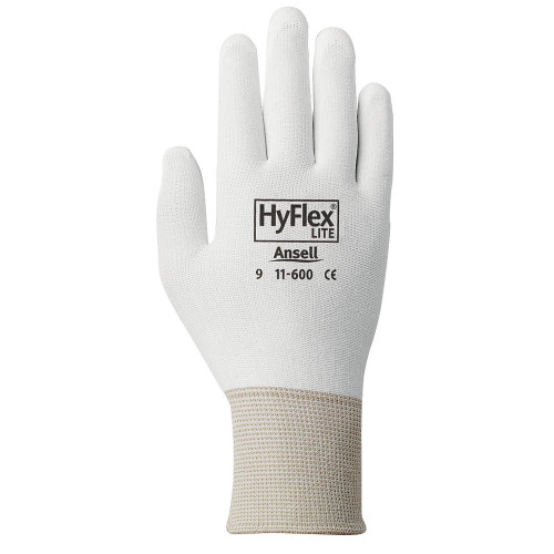 Ansell 11-600W HyFlex Multi-Purpose Palm Coated Light Duty Glove with Knitwrist Cuff. Shop Now!