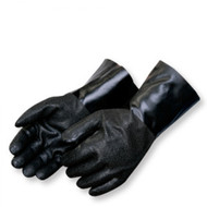 "Black 12"" PVC Coated Gloves with Jersey Lining and Textured Grip. Shop Now!"