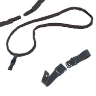"Chums 11090 1/2"" 2-Ply Cotton Round Breakaway Lanyard + RHOOK2 - Black. Shop Now!"