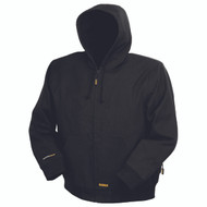 DeWalt DCHJ061 Heated Black Hooded Work Jacket. Shop now!
