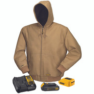 DeWalt DCHJ064 Khaki Heated Hooded Jacket. Shop now!