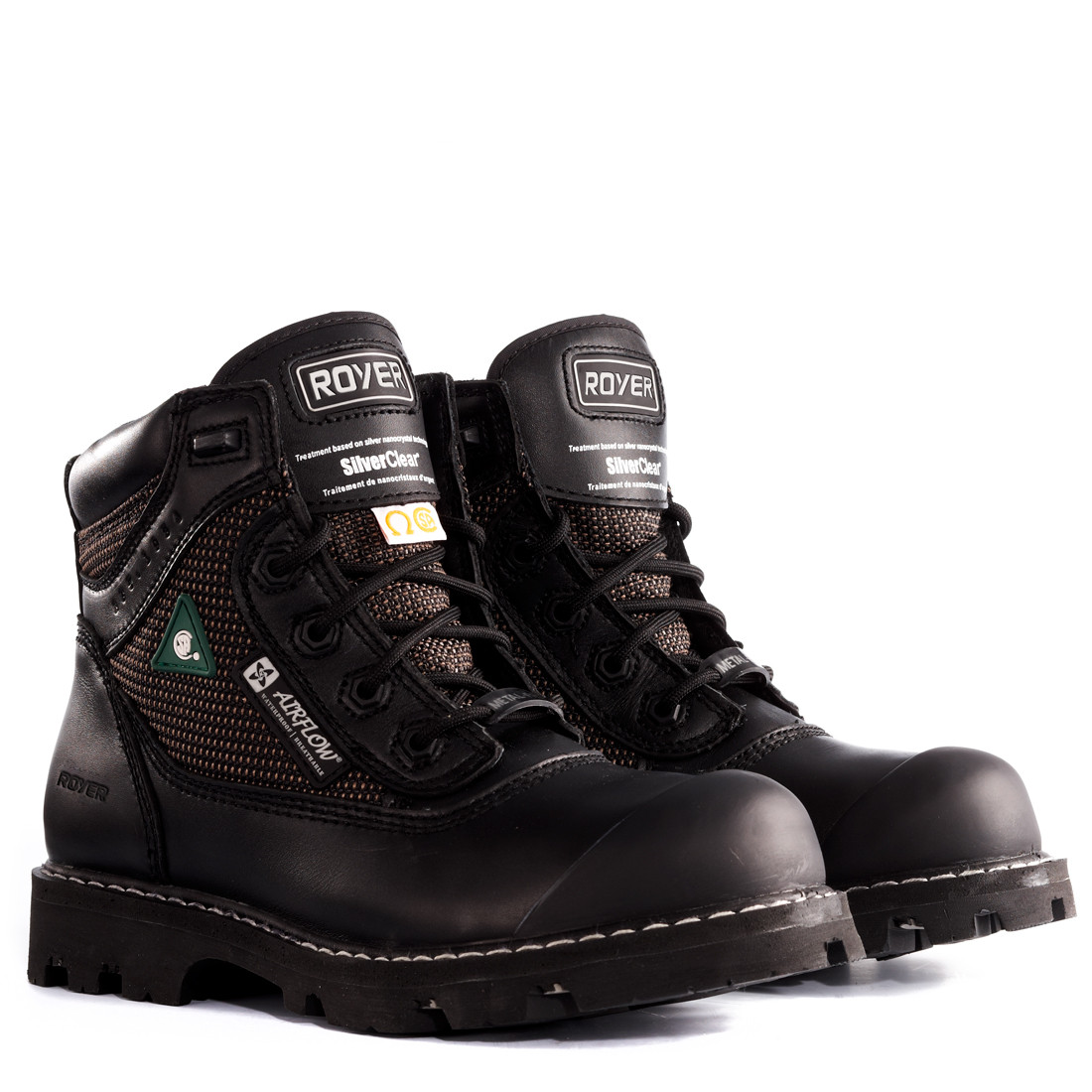 cac6e14557d Royer 10-8400 Black FLX Rubber Sole Waterproof Leather Metal-Free Boot