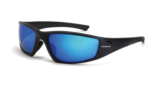 a71d36dbfb Crossfire RPG Polarized HD Blue Mirror Lens Matte Black Frame