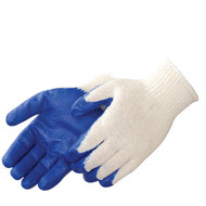 Blue Latex Palm Coated Gloves. Shop Now!