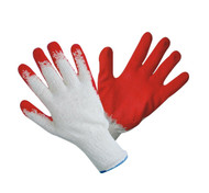 String Knit Clear Honeycomb Red Glove-12 Pairs