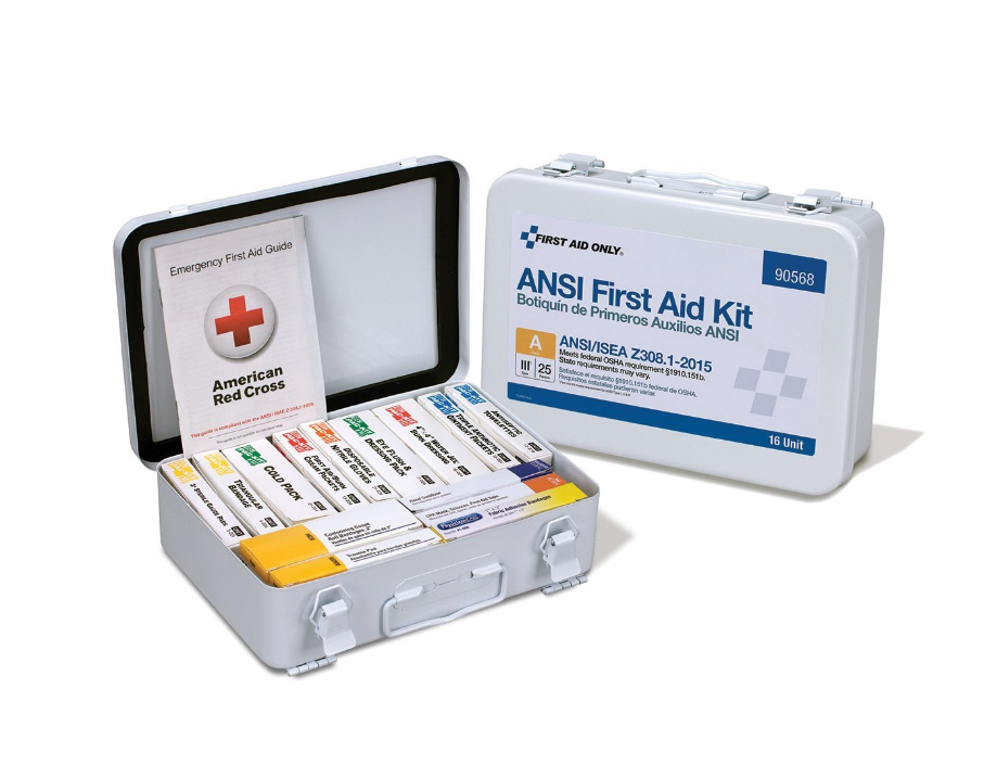 First Aid Only 90568 Class A 16 Unit ANSI A First Aid Kit-Type III