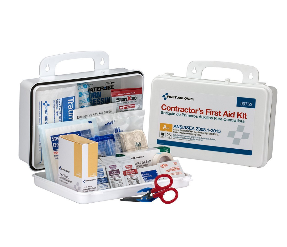 First Aid Only 90753 Class A+ 25 Person ANSI A+, Plastic First Aid Kit-  Type III