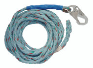 "FallTech 8149T 50' Vertical Lifeline - 5/8"" Copolymer Rope, Taped End. Shop Now!"