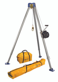 FallTech 7505S Tripod kit with 60 Ft Winch - Stainless Steel Cable. Shop Now!