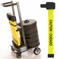 "Banner Stakes PL4002 PLUS Cart Package, Yellow ""Caution-Cuidado"" Banner. Shop now!"