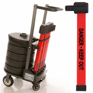 "Banner Stakes PL4011 PLUS Cart Package, Red ""Danger - Keep Out"" Banner. Shop now!"