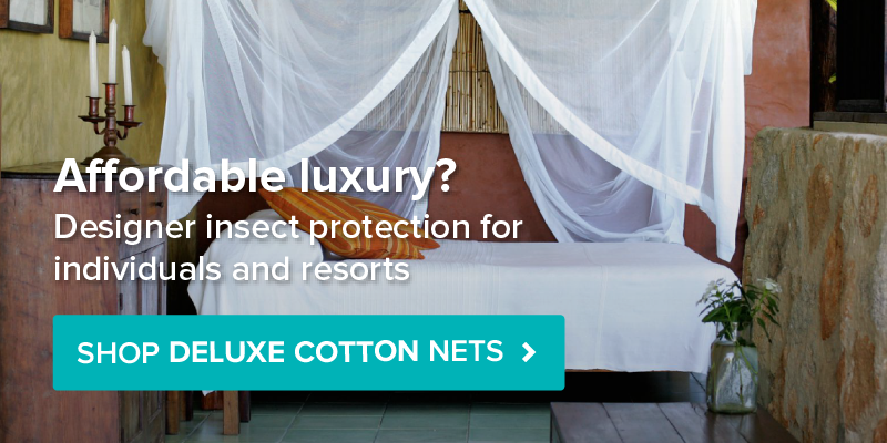 View our range of Deluxe Cotton Mosquito Nets