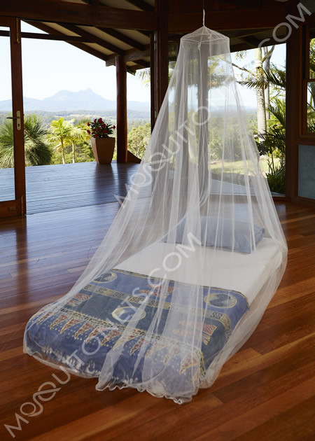 Treated mosquito net