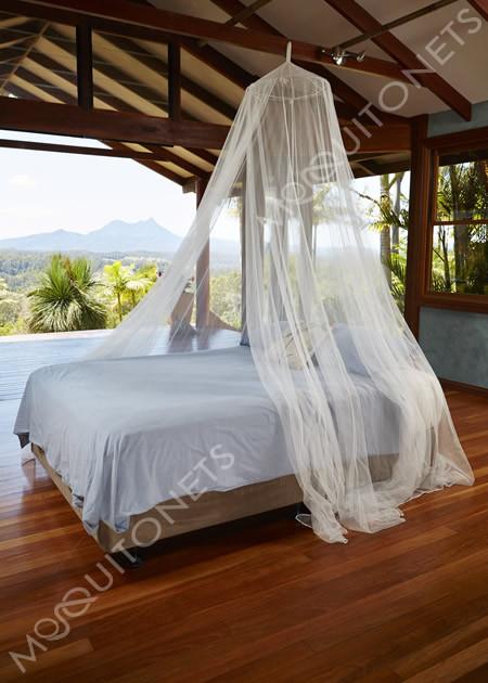 Generous 14 metre circumference mosquito net