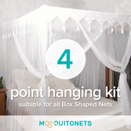 Mosquito Net hanging kit for all Box shaped nets.