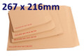 Board Backed Envelope Manilla 267x216mm - boxed 125