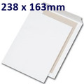 Board Backed Envelope White PiP 238x163mm - boxed 125