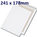 Board Backed Envelope White 241x178mm - boxed 125