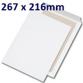 Board Backed Envelope White 267x216mm - boxed 125