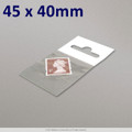 45x40mm Clear Cello Bag with Header - packed 100