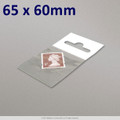 65x60mm Clear Cello Bag with Header - packed 100