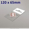 120x65mm Clear Cello Bag with Header - packed 100