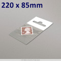220x85mm Clear Cello Bag with Header - packed 100