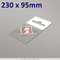 230x95mm Clear Cello Bag with Header - packed 100