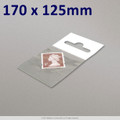170x125mm Clear Cello Bag with Header - packed 100