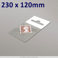 230x120mm Clear Cello Bag with Header - packed 100