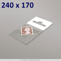 240x170mm Clear Cello Bag with Header - packed 100