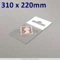 310x220mm Clear Cello Bag with Header - packed 100