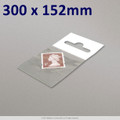300x152mm Clear Cello Bag with Header - packed 100