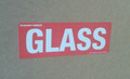 Printed Label GLASS 90x30mm - packed 10