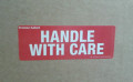 Printed Label HANDLE WITH CARE 90x30mm - packed 10