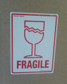 Printed Label FRAGILE 150x100mm - packed 10