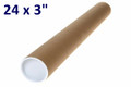 """24x3"""" Postal Tube with Caps - packed 10"""