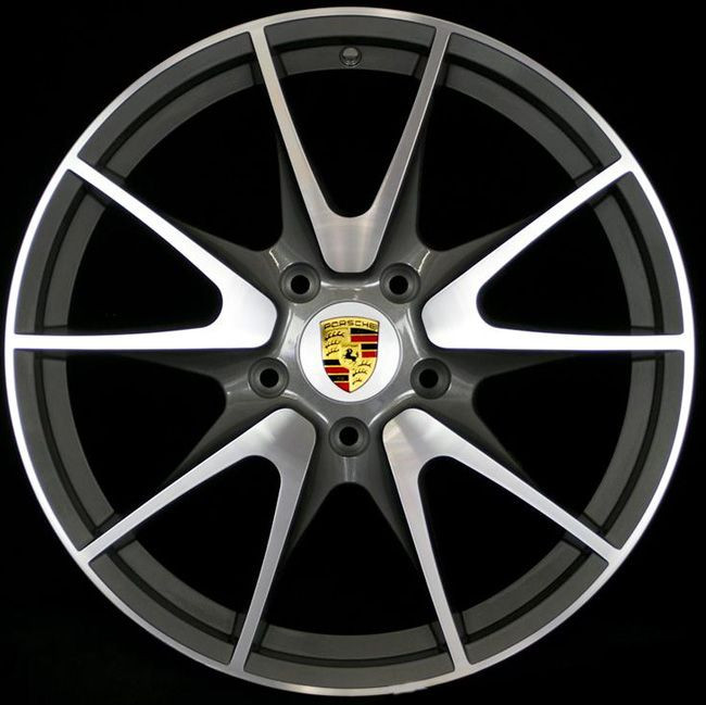 Porsche Wheels Gold Center caps hubcaps , Original Chromed (Turbo)