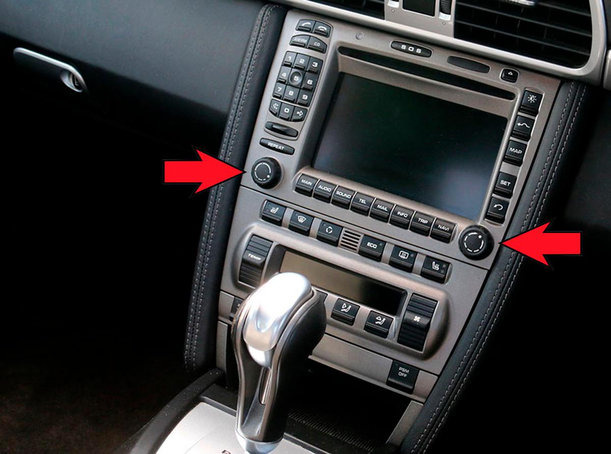Porsche Radio knob set - For PCM