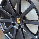 Porsche Wheels Gold Center caps hubcaps - Original MATTE BLACK