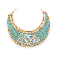 Necklace N 2696 GLD TURQ