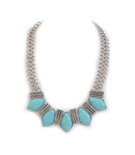 Necklace N 2681 SLV TURQ