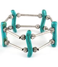 Bracelet B 4304 SLV TURQ