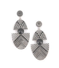 Earrings E 6400 SLV BLK