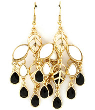 Earrings E 4109 GLD BLK